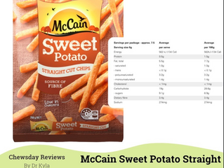 Chewsday Review- McCain's Sweet Potato Straight Cut Chips