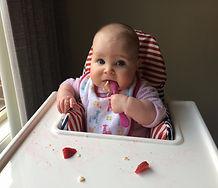 strawberry, child, baby