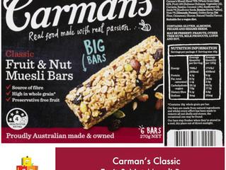 Chewsday Review- Carman's Original Muesli Bars