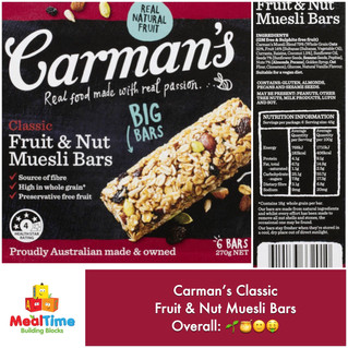 Chewsday Review- Carman's Original Muesli Bars