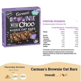 Chewsday Review - Carman's Brownie Oat Bars