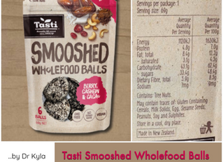 Chewsday Review- Tasti Smooshed Wholefood Balls (Berry, Cashew and Cacao)