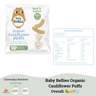 Chewsday Review- Baby Bellies Organic Cauliflower Puffs