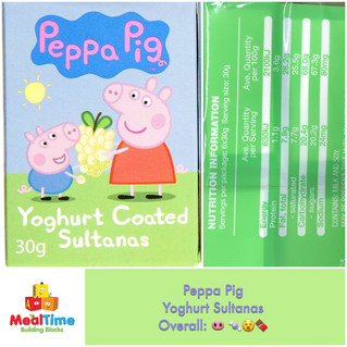 Chewsday Review- Peppa Pig Yoghurt Coated Sultanas