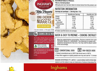 Chewsday Review- Ingham's Dino Chicken Nuggets with Veggies