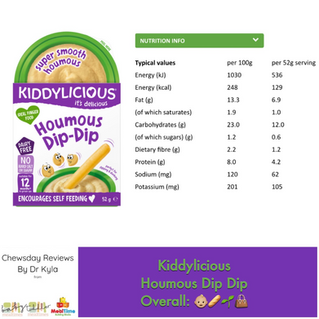 Chewsday Review- Kiddylicious Houmous Dip Dip
