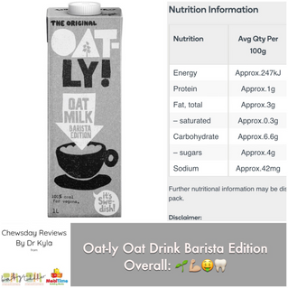 Chewsday Review- Oat-ly Oat Milk Barista Edition