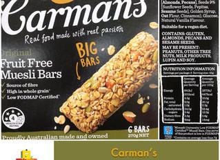 Chewsday Review- Carman's Fruit Free Muesli Bars