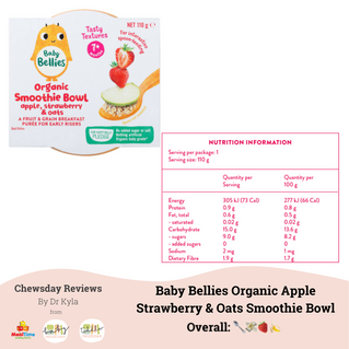 Chewsday Review- Baby Bellies Organic Apple Strawberry Smoothie Bowls