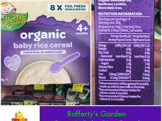 Chewsday Review- Rafferty's Garden Organic Rice Cereal