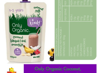 Chewsday Review- Only Organic Coconut, Banana & Acai Smoothie