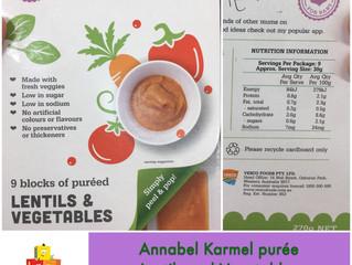 Chewsday Review- Annabel Karmel Frozen Lentils & Vegetables purée