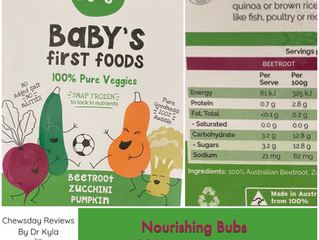 Chewsday Review- Nourishing Bubs veggie purees