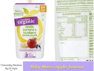 Chewsday Review- Baby Macro apple, banana and blueberry bircher muesli