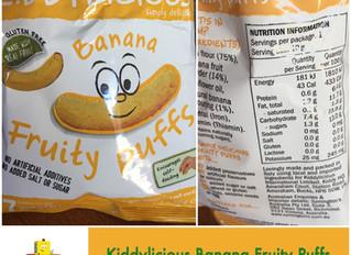 Chewsday Review- Kiddylicious Banana Fruity Puffs