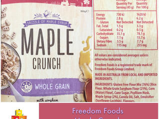 Chewsday Review- Freedom Foods Maple Crunch