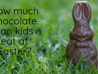 How much chocolate can kids eat at Easter?