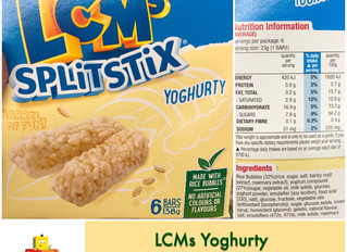 Chewsday Review- LCMs Split Stix Yoghurty bars