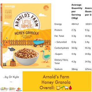 Chewsday Review- Arnold's Farm Little Farmers Honey Granola