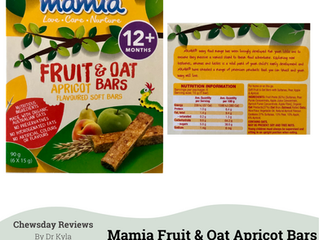 Chewsday Review - Mamia Fruit & Oat Apricot Bars