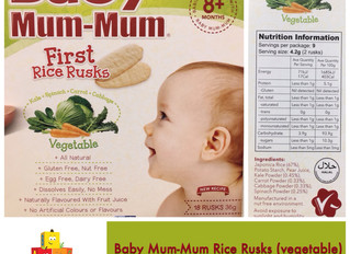 Chewsday Review- Baby Mum-Mum Rice Rusk