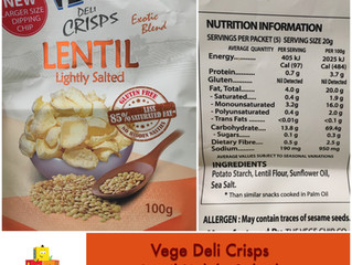 Chewsday Review- Vege Chips (Lentil-Lightly Salted)