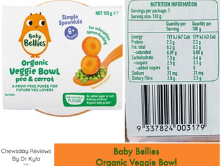 Chewsday Review- Baby Bellies Organic Veggie Bowl- Pea and Carrot.