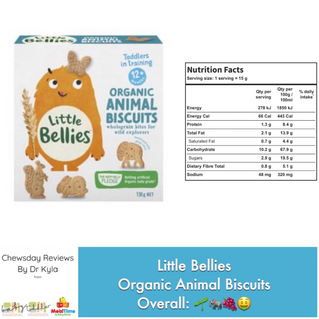 Chewsday Review- Little Bellies Animal Biscuits