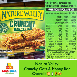 Chewsday Review- Nature Valley Crunchy Oats & Honey Bar