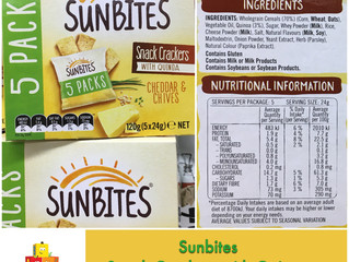 Chewsday Review- Sunbites Snack Crackers with Quinoa