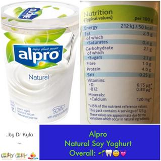 Chewsday Review- Alpro Dairy Free Yoghurt (Soy)
