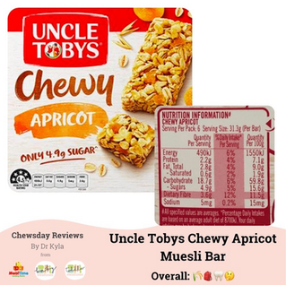 Uncle Tobys Chewy Apricot Muesli Bars