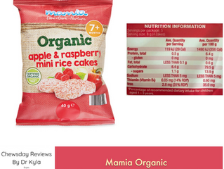 Chewsday Review- Mamia Mini Rice Cakes