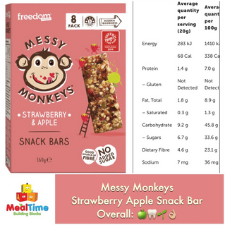Chewsday Review- Messy Monkeys Snack Bars