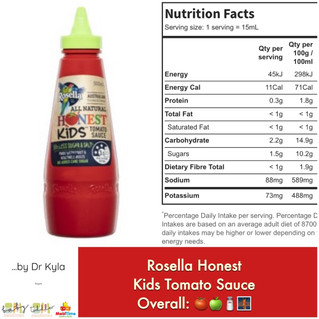 Chewsday Review- Rosella Honest Kids Tomato Sauce