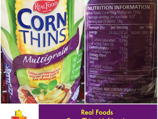 Chewsday Review- Real Foods Corn Thins