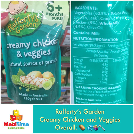 Todayu0027s Version Is Raffertyu0027s Garden Creamy Chicken And Veggies. Itu0027s Part  Of The Baby Savoury Range, As Most Parents Seem To Be Looking For ...
