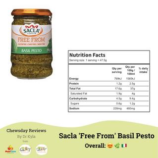 Chewsday Review- Sacla 'Free From' Basil Pesto