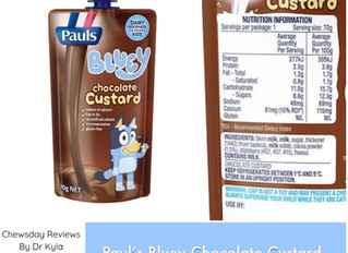 Chewsday Review- Paul's Bluey Chocolate Custard