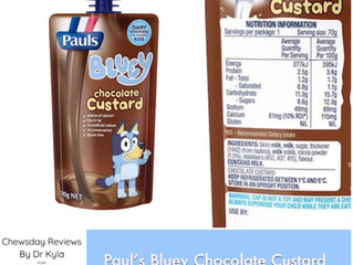 Chewsday Review- Paul's Bluey Chocolate Custard