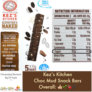 Chewsday Review- Kez's Kitchen Choc Mud Snack Bars