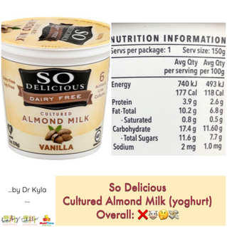 Chewsday Review- So Delicious Almond Vanilla Yoghurt (Dairy Free)