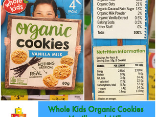 Whole Kids Organic Cookies