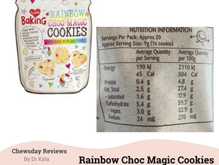 Chewsday Review- I Love Baking Rainbow Choc Magic Cookies