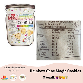 Chewsday Review- I Love Baking Rainbow Choc Magic Cookies
