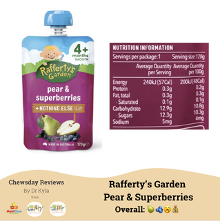 Chewsday Review- Rafferty's Garden Pear and Superberries puree