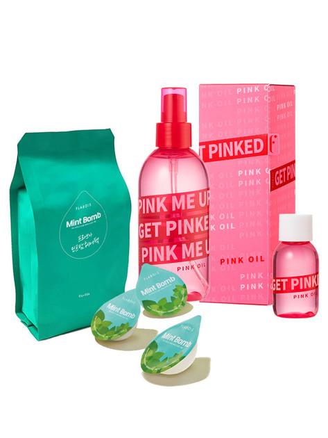 MILKBOMB 薄荷髮膜+粉色玫瑰髮油200ml