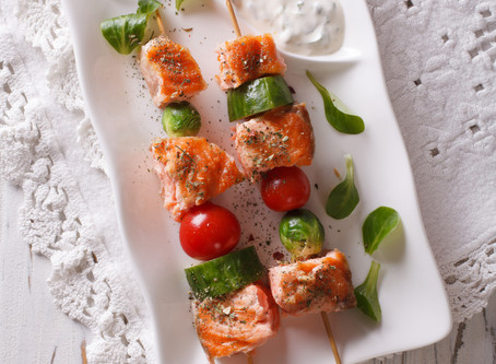 Keto Salmon Kebabs
