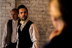 David confronts Miss Dartle