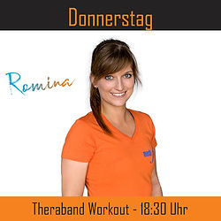 Donnerstag - Theraband Workout - Romina.